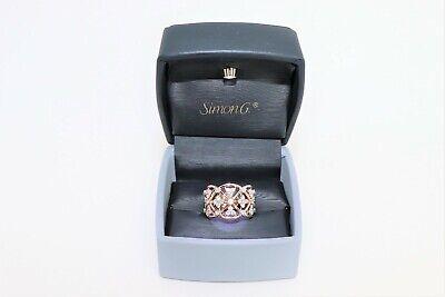 Simon G. 18k Rose Gold Diamond Right Hand Ring 0.65 ctw LR1090 w/ Box & Cert. Ctw Diamond Right Hand Ring