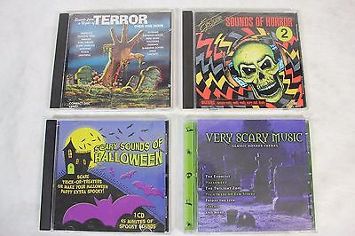 Nice Lot of 4 Horror Halloween Scary Sounds & Movie Theme Music of Terror - Halloween Movie Theme Music