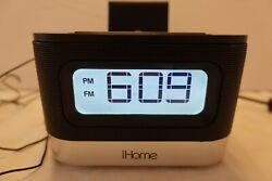 iHome IPL10 Stereo Radio Alarm Clock Speaker with Lightning Dock for iPhone
