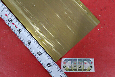 12 X 4 C360 Brass Flat Bar 6 Long Solid Plate Mill Stock H02 .50x 4