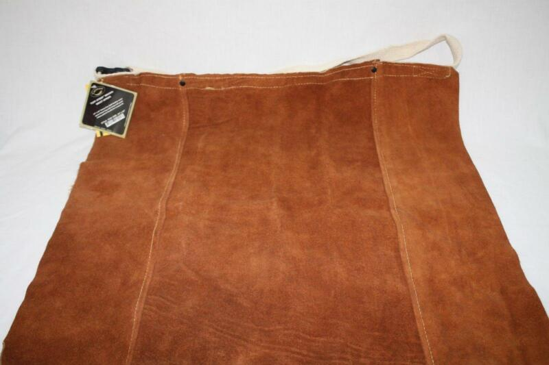 "Caiman Tuff-Steer Brown Leather Welding Crafting Apron 24 x 24"" NEW"