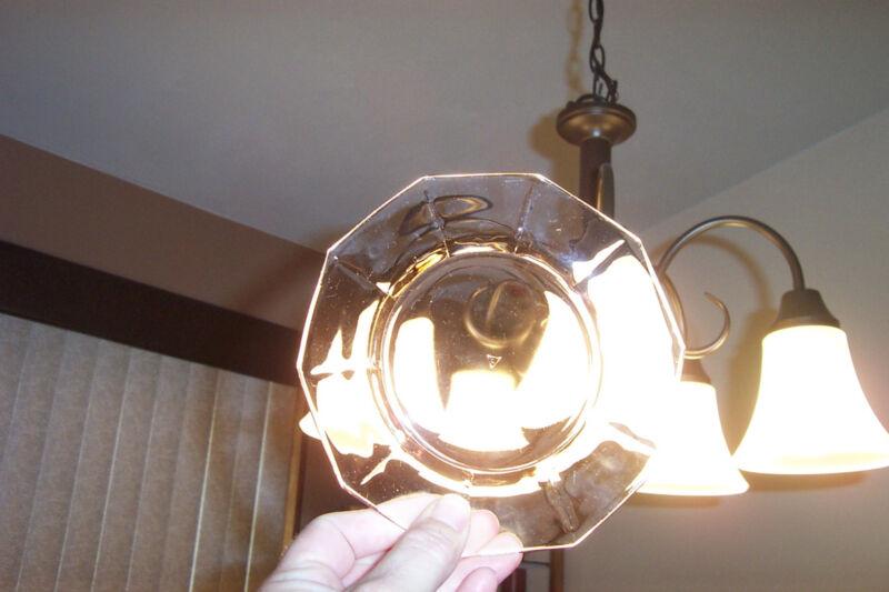 cambridge depression glass  6 inch saucers  set of 5