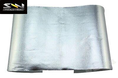 "SWI Universal Starter heat shield 7"" X 22"" Wrap Kit W/2 Stainless Steel Zip Ties"