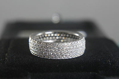 2 ct vvs Diamonds Wedding Band 14k White Gold for Men and Woman with Diamante