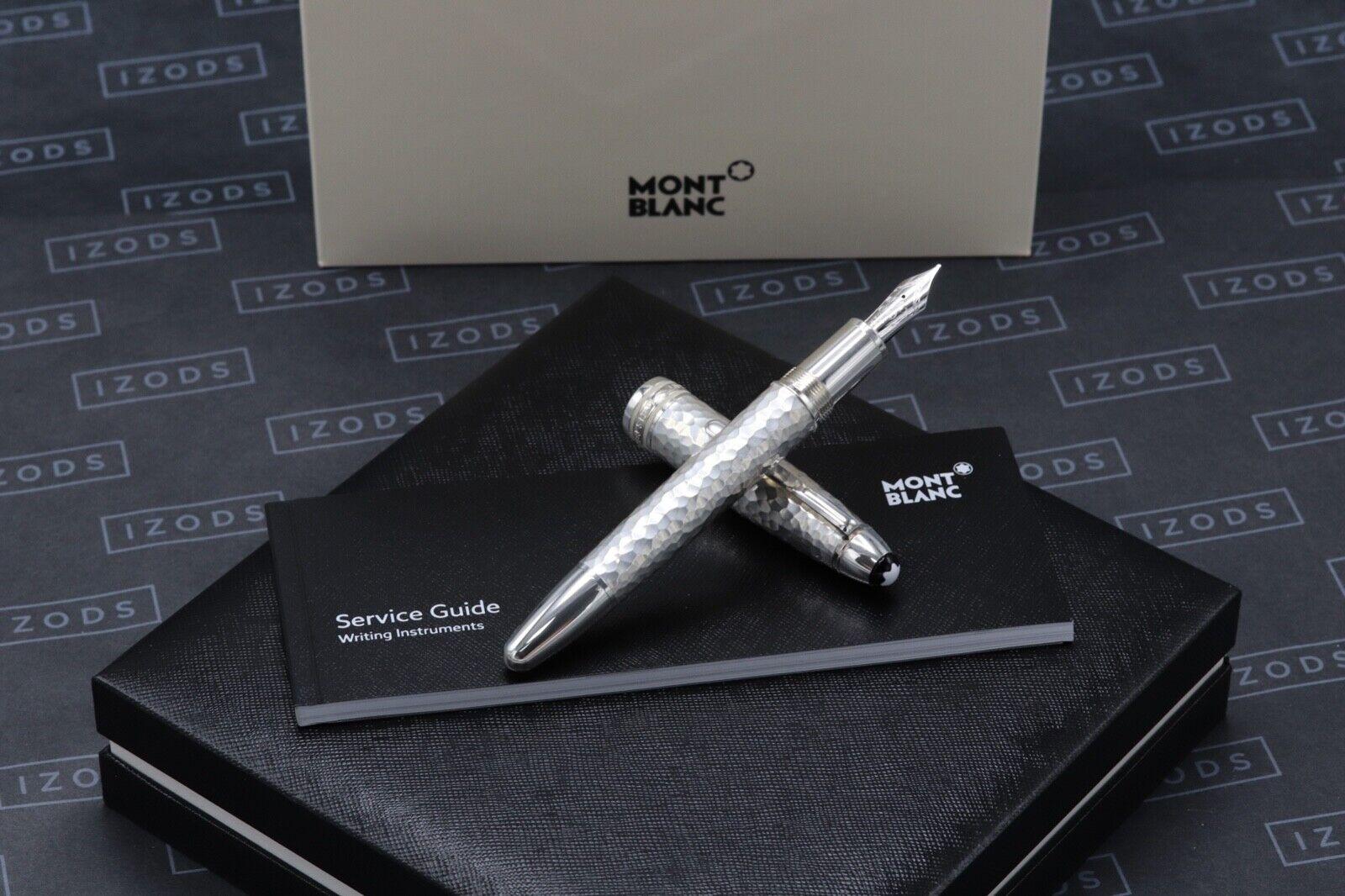 Montblanc Meisterstuck LeGrand Martele Solitaire Silver Fountain Pen