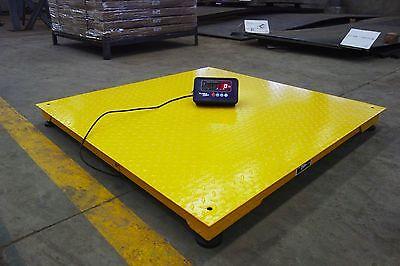 Heavy Duty 40 X 40 Industrial Floor Scale Pallet Size 10000 X 1 Lb New