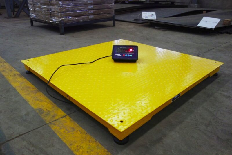 "Heavy Duty 40"" x 40"" Industrial Floor Scale / Pallet Size 10,000 x 1 lb **NEW**"