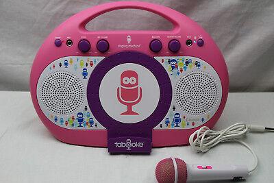 Singing Machine iSM398PP Karaoke Anlage rosa/lila  mit App für IOS oder Android