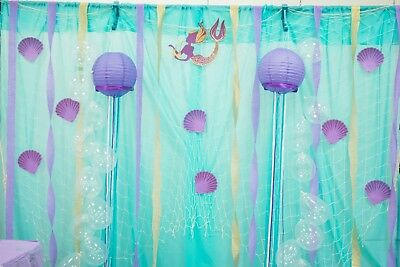 MERMAID UNDER THE SEA Large wall decals birthday decoration photo props backdrop](Under The Sea Props)