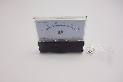 1pc Dc 0- 50ua Analog Ammeter Panel Amp Current Meter 80x100mm Directly Connect