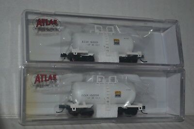 1862 2 Atlas Exxon Chemical Beer Can Tank Car N Scale 50001861
