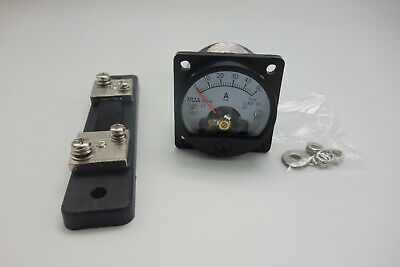 1pc Dc 0-50a Analog Ammeter Panel Amp Current Meter So45 Cutout 45mm With Shunt