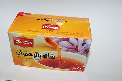 black tea bag with saffron flavore high quality no.1 zafran 20 bags teabags best for sale  Shipping to Canada
