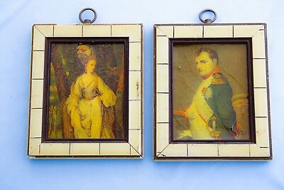 Framed Portraits of French Emperor Napoleon Bonaparte & Marie Louise Waterloo