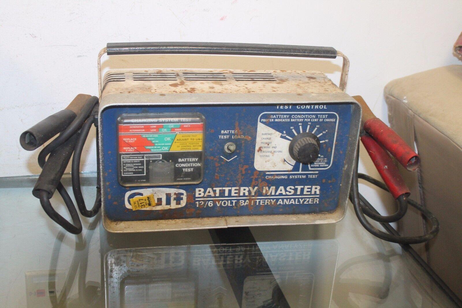 Gulf Oil Battery Master 12/6 Volt Battery Analyzer VINTAGE AUTOMOTIVE AUTO TOOL