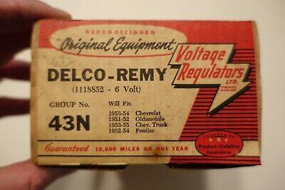 Vintage Nos Original 1950s Delco - Remy Voltage Regulator - Model 43n