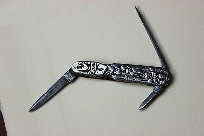 Vtg Keen Kutter Sterling Silver Odd Fellows Pocket Knife