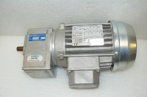 INDUR MONTECH DRIVE MOTOR W/ GEAR REDUCER, 1:7.78 RATIO 3 PH