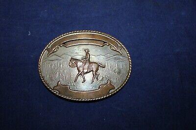 Comstock Silversmiths German Silver Western or Rodeo Belt buckle