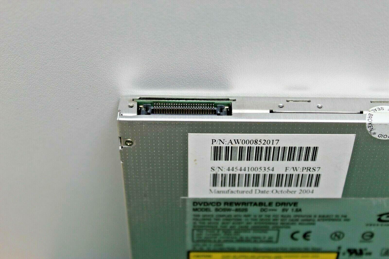 Graveur lecteur dvd lite-on sosw-852s pour pc portable