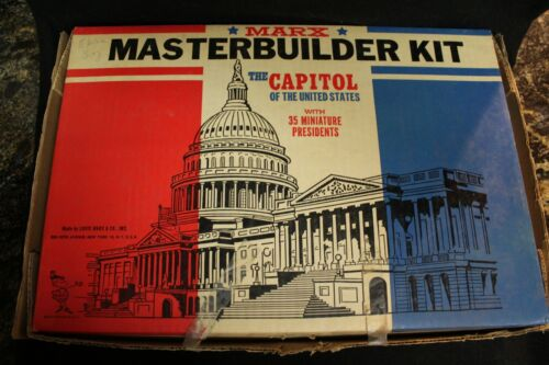 Marx Masterbuilder Kit The Capitol Of The United States w/ Miniature Presidents