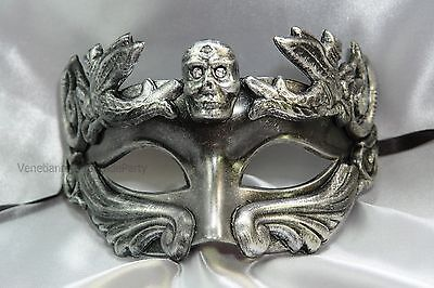 Gold Silver Skull Halloween Masquerade Mask For man and woman Costume Prom Party](Silver Mask For Halloween)