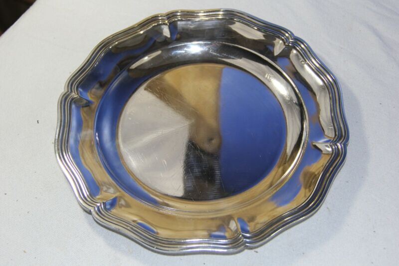 Christofle Silver Plated Circular Dish Tray 10 5/8 inches round