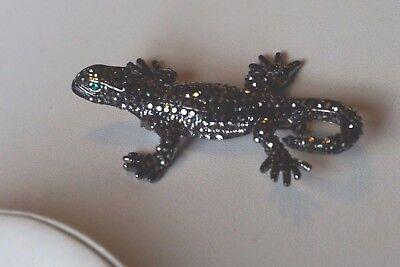 Butler and Wilson Crystal Gecko Brooch