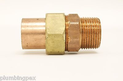 1 X 1 Cast Copper Male Cxm Sweat X Ips Thread Union Plumbing Fitting -5 Pieces