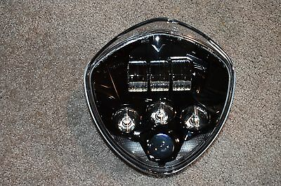 VICTORY MOTORCYCLES OEM BLACK LED HEADLIGHT 2010-2016 CROSS, 07-16 CRUISERS