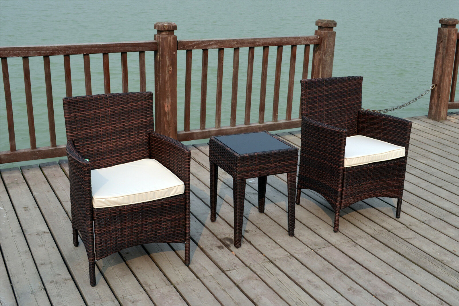 bistro 2 seater chairs rattan wicker conservatory outdoor. Black Bedroom Furniture Sets. Home Design Ideas