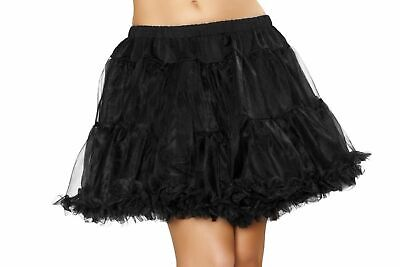 Black Tutu Costumes (SEXY COSTUMES BLACK Petticoat Layered Tulle Womens Tutu Adult One)