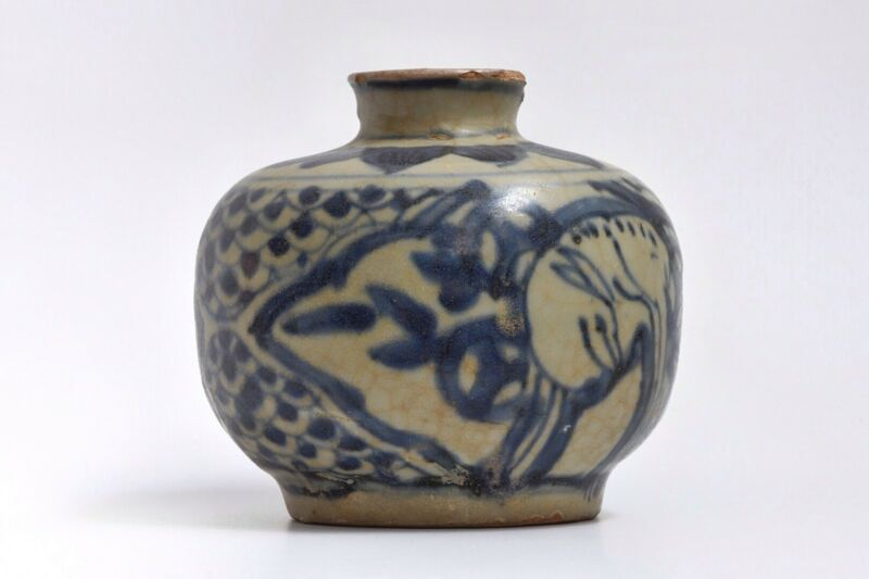 An Early Blue & White Anamese Pottery Jar