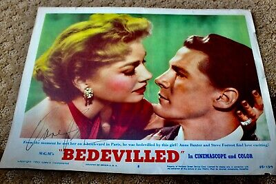 ANNE BAXTER HAND SIGNED AUTOGRAPH BEDEVILLED LOBBY CARD PHOTO PHOTOGRAPH