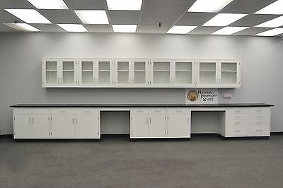 22 Fisher American Base Laboratory Cabinets W 17 Upper Cabinets - In Stock