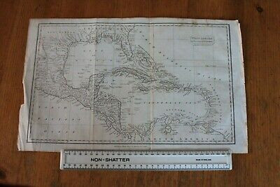 Antique Map Of West Indies Published by Thomas Kelly of London circa 1810