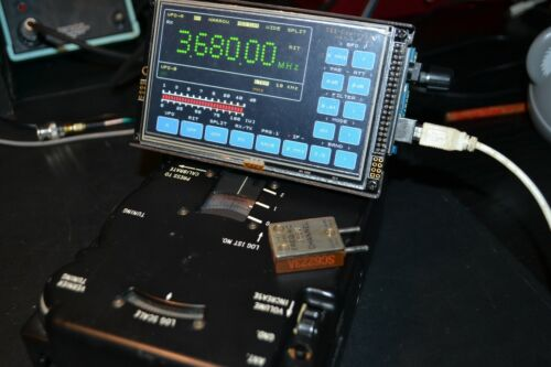 """The controller with 5 """" LCD touch screen for example for vintage HF receiver"""