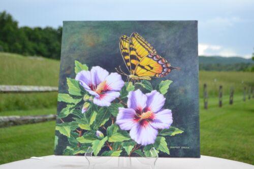 Illuminart Canvas Art with Flower & Fiber Optics with Timer