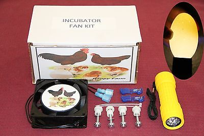 Circulated Air Fan Kit For Little Gianthovabator Incubator Free Egg Candler