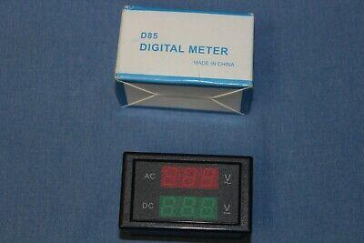 New - Redgreen Led Digital Panel Volt Meter Gauge Ac 80-150v  Dc 0-99v