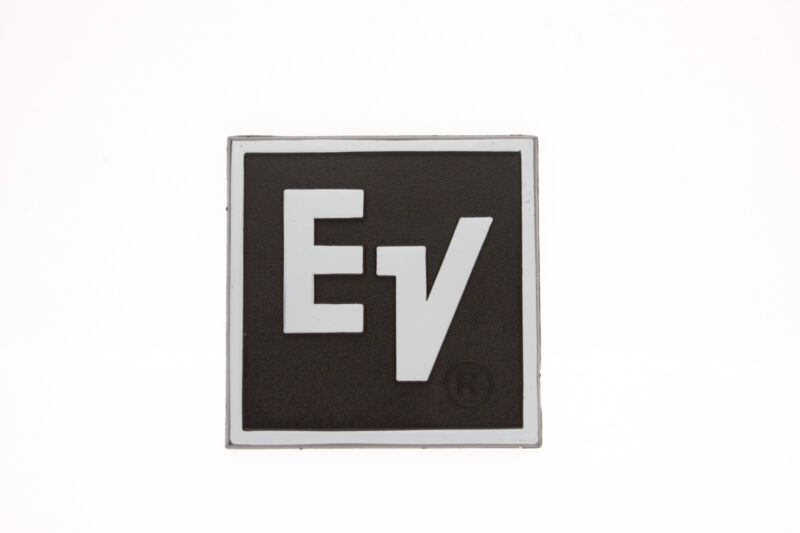 For Replacement EV Plastic Logo Badge 62mm Square - White Text