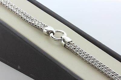(Sterling Silver 925 Double Loop Strand Wheat Snake Chain Bracelet - 6.75
