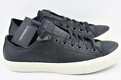 Converse X John Varvatos Mens Size 11 Chuck Taylor II Ox Shoes Black 153895C