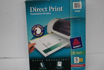 Avery 11534 Direct Print Laser Printer Dividers 5-Tab 23 Sets  ()