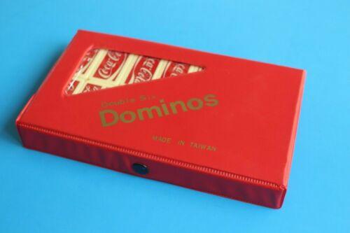 Vintage Coca Cola Double Six Dominoes Set 1980