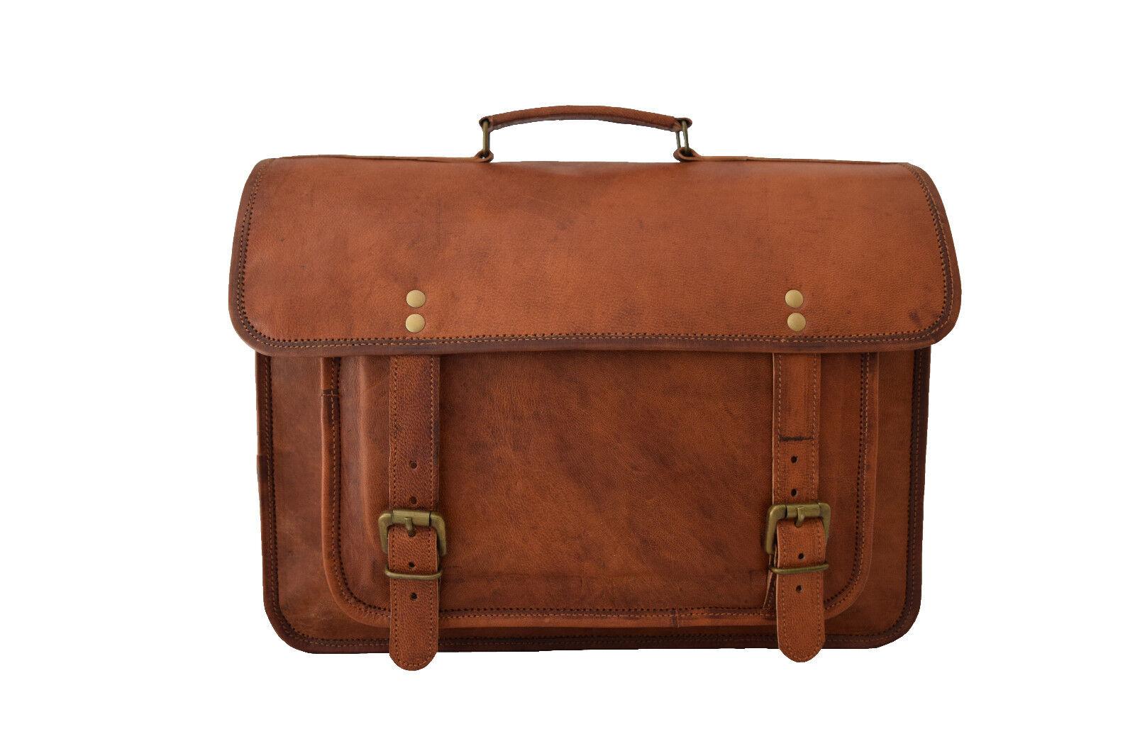 Leder Umhängetasche 15 Zoll Laptop Schultertasche Messengertasche Aktentasche