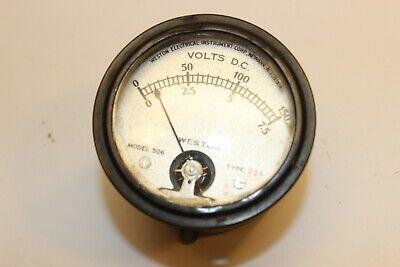 Vintage Western Electrical Instrument Corp Model 506 Volt Meter Dc 0-150v Weston