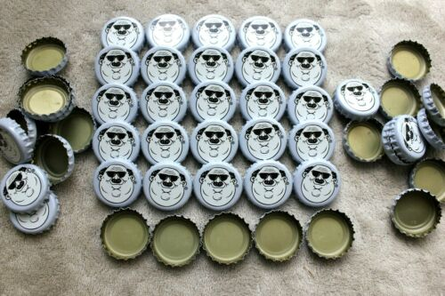 100 Fat Heads Brewery Violet White Beer Bottle Caps No Dents Free Shipg C Store!