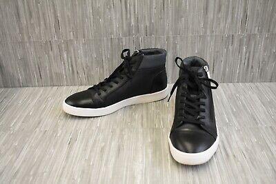 Calvin Klein Balthazar Faux Leather Fashion Sneakers, Men's Size 8.5M, Black