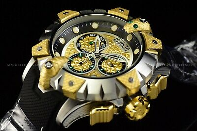Invicta Men's 52mm Reserve VENOM Viper Swiss Chrono Gold Silver Strap Watch